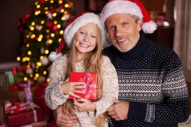 Portrait de charmante fille et sa fille