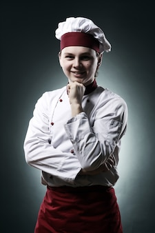 Portrait de chef souriant
