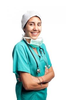 Portrait de chirurgien isolé