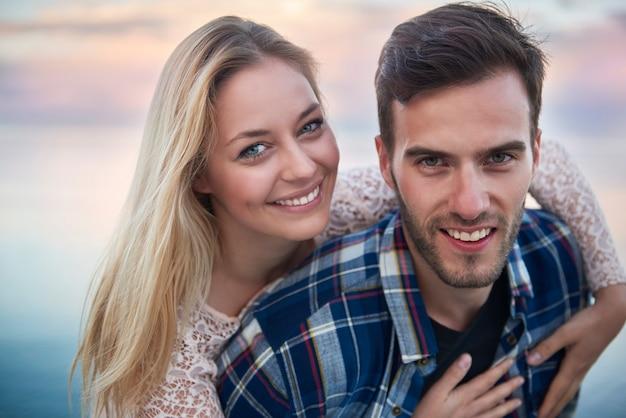 Portrait de couple amoureux