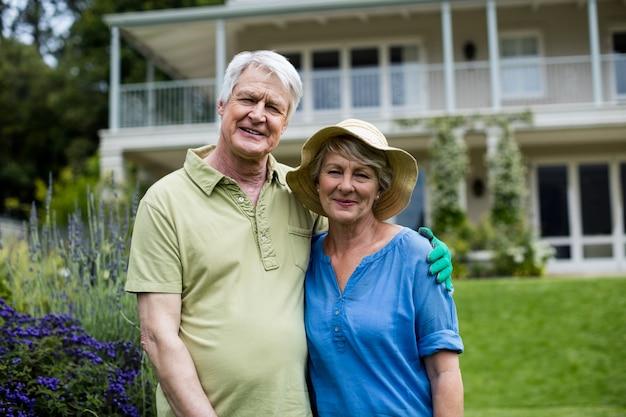 Portrait de couple senior