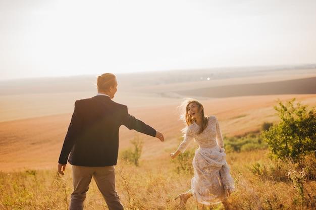Portrait couples, tendresse amour nature