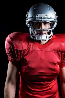 Portrait du joueur de football américain déterminé