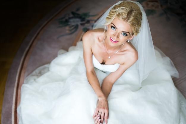 Portrait du matin de la belle mariée