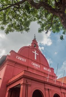 Portrait de l'église du christ à melaka, malaisie