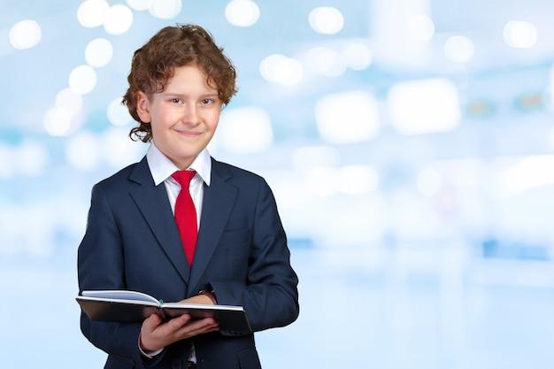 Portrait d'un enfant d'affaires