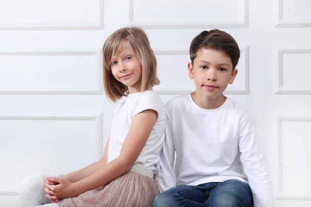 Portrait d'enfants heureux
