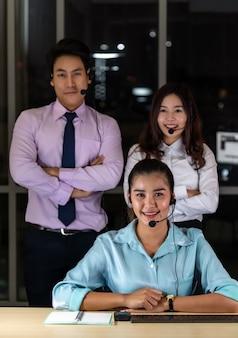 Portrait de l'équipe du centre d'appels