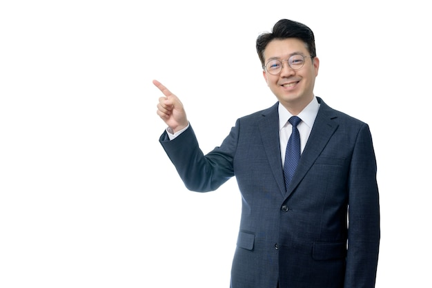 Portrait expressif homme en costume
