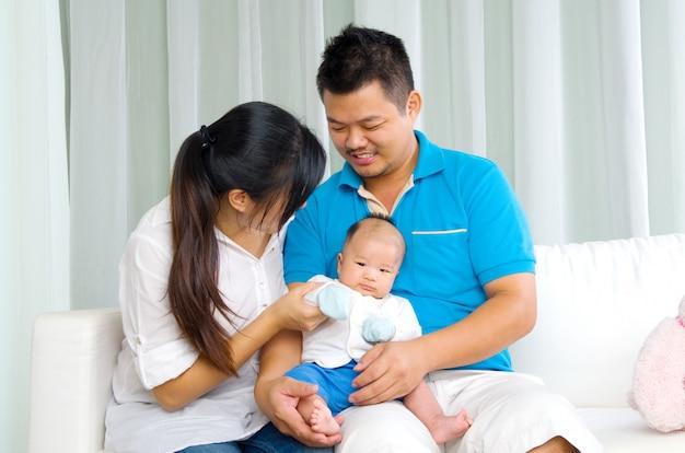 Portrait de famille asiatique