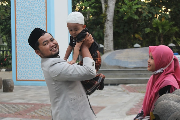 Portrait de famille musulmane