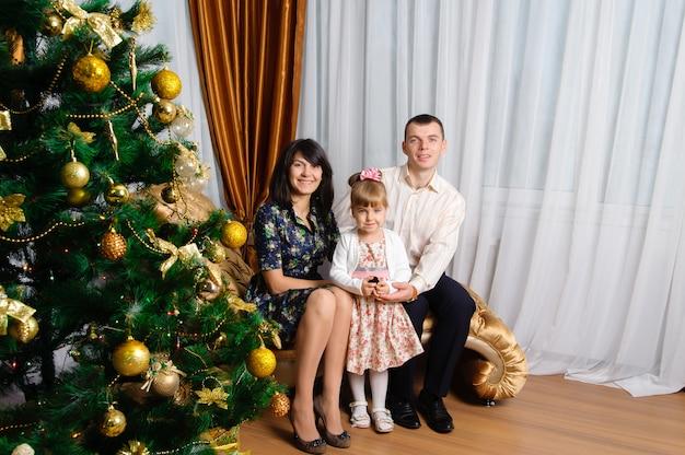 Portrait de famille pour le nouvel an.