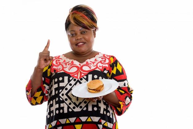 Portrait de femme africaine isolée
