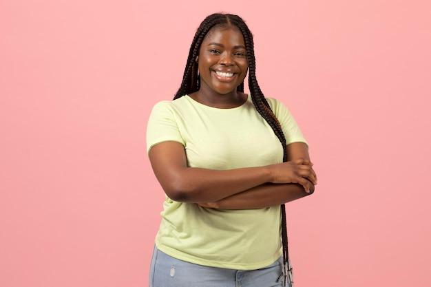 Portrait de femme afro-américaine expressive