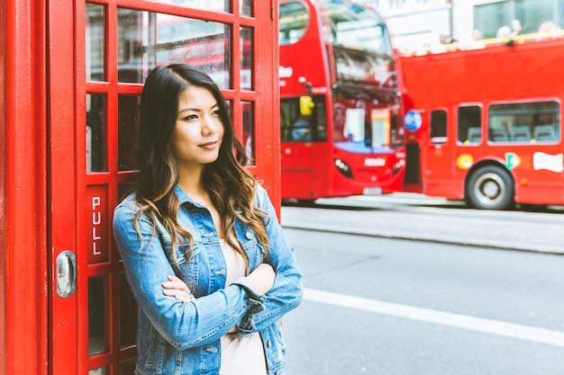 Portrait de femme asiatique à londres