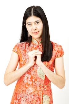 Portrait de femme asiatique nouvel an chinois.