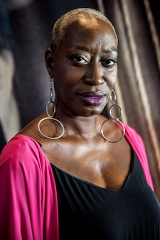 Portrait d'une femme chanteuse