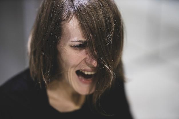 Portrait d'une femme dépressive