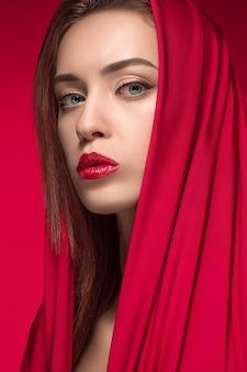 Portrait de femme fashion.