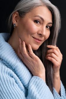 Portrait de femme senior