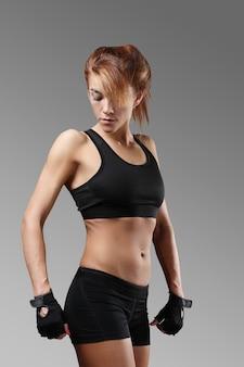 Portrait de femme sportive