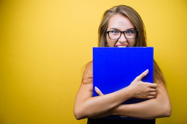 Portrait d'une femme stressée