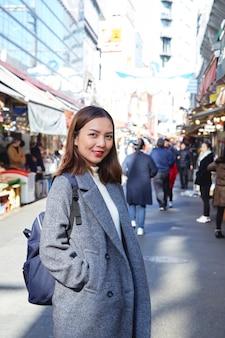 Portrait femme touriste