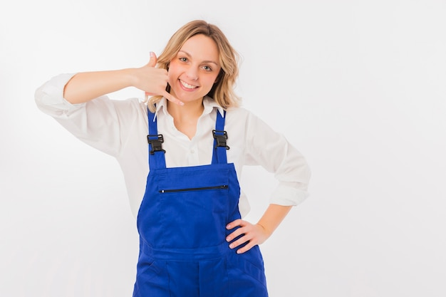 Portrait de femme travailleuse