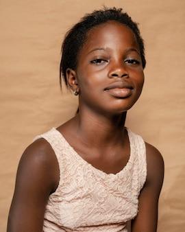 Portrait de fille souriante