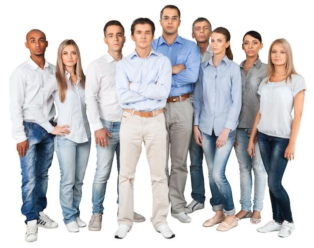 Portrait de gens d'affaires confiants