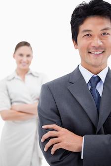 Portrait de gens d'affaires posant