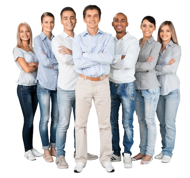 Portrait de gens d'affaires souriants