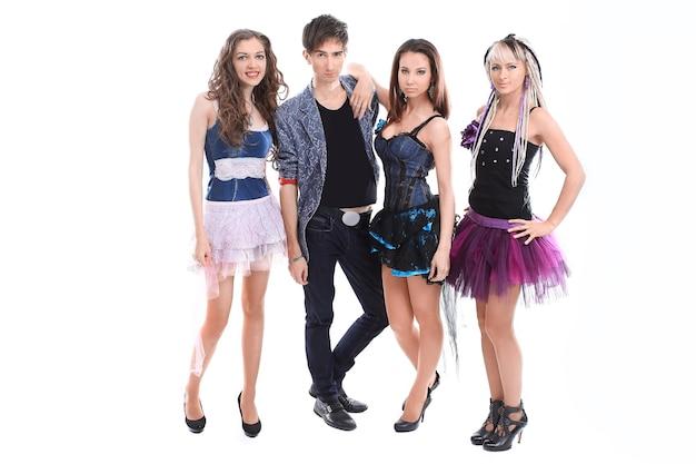 Portrait d'un groupe de musique rock pour les jeunes.