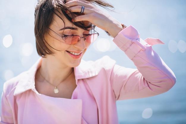 Portrait heureux de femme