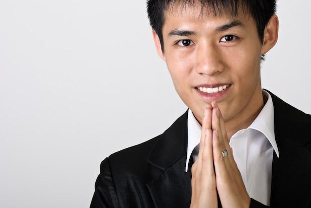 Portrait d'homme d'affaires asiatique