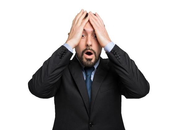 Portrait d'homme d'affaires désespéré