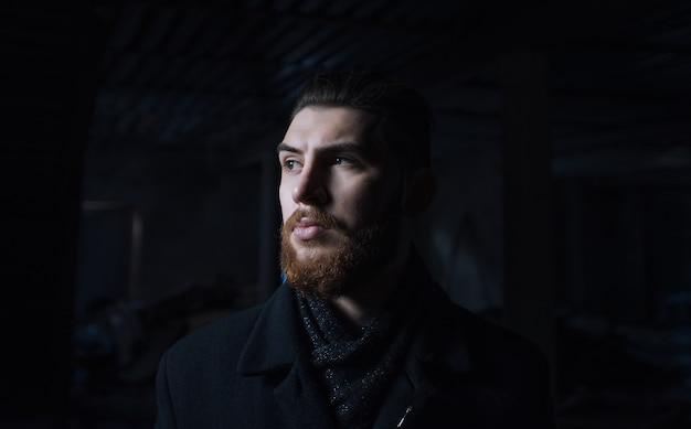 Portrait d'un homme avec une barbe. ukraine sumy