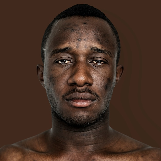 Portrait d'un homme ghanéen