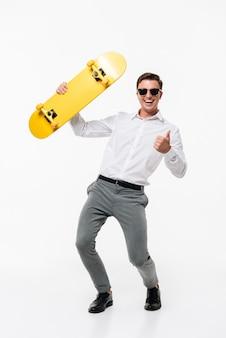 Portrait d'un homme heureux heureux