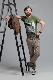 Portrait d'homme hipster