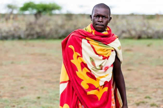 Portrait d'homme massaï