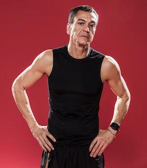 Portrait homme sportif