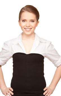 Portrait d'une jeune femme d'affaires séduisante