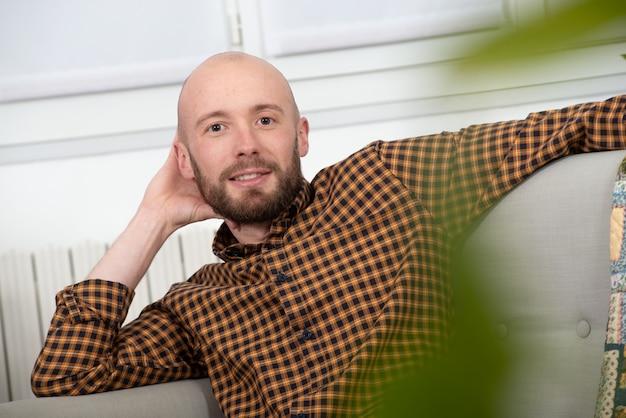 Portrait d'un jeune homme à la barbe