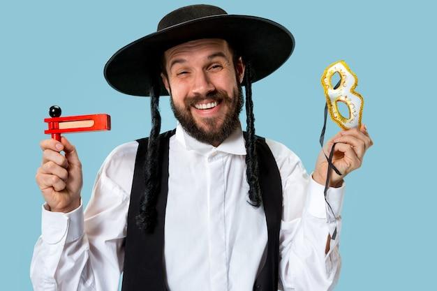 Portrait d'un jeune homme juif orthodoxe hasdim