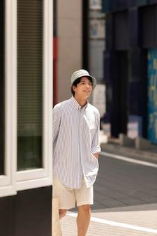 Portrait de jeune personne asiatique