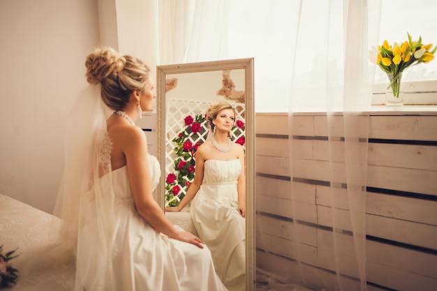 Portrait d'une jolie mariée