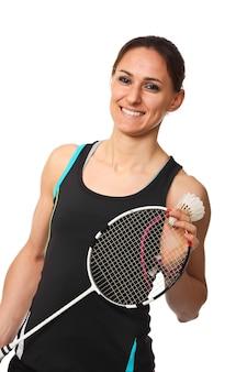 Portrait de joueur de badminton