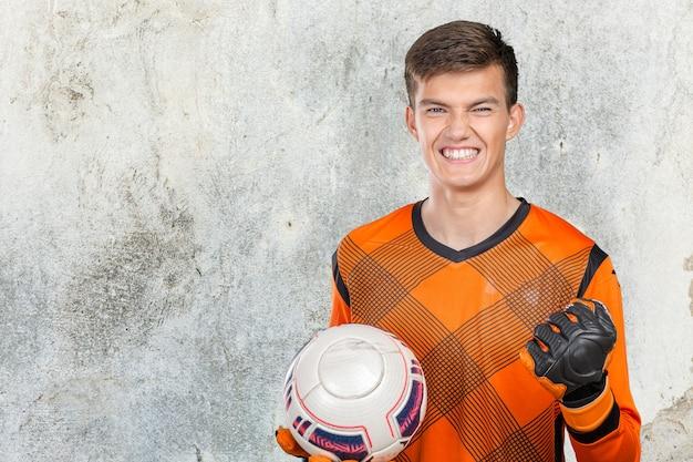 Portrait de joueur de football professionnel