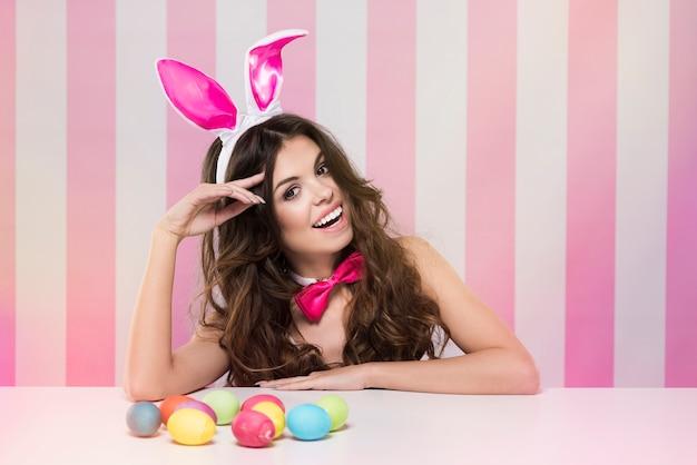 Portrait de joyeux lapin de pâques
